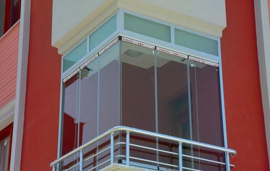 Балкон с финскими стеклами без рам