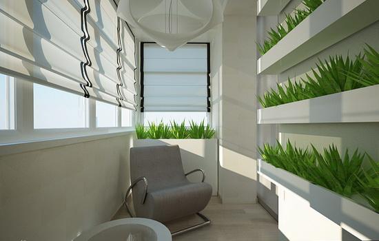 Балкон в стиле эко