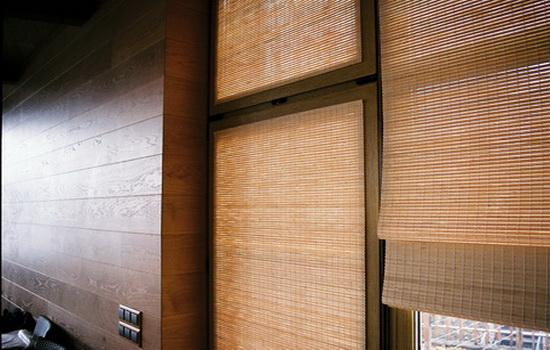 Бамбуковые шторы в квартире