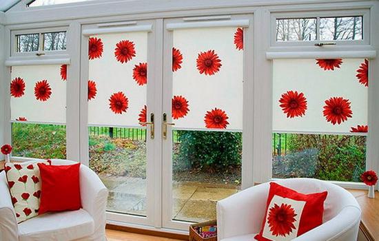 Декор окна с использованием жалюзи