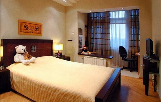 Детская спальня совмещенная с балконом