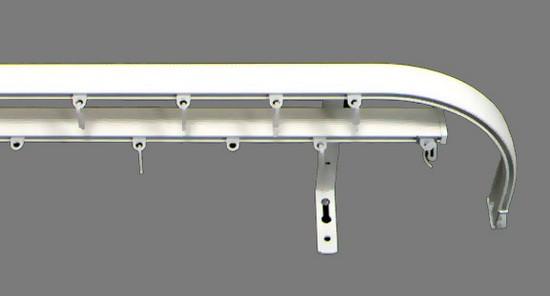 Два алюминиевых карниза с использованием загнутых элементов