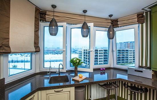 Эркерное окно на кухне