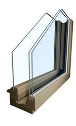Финские окна из дерева в разрезе