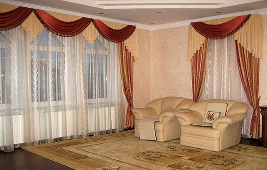 Фотография итальянских штор в интерьере квартиры