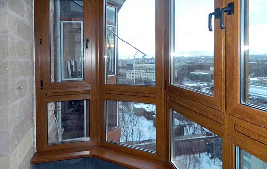 Остекление лоджии под французский балкон