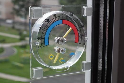 Уличный градусник на пластиковое окно