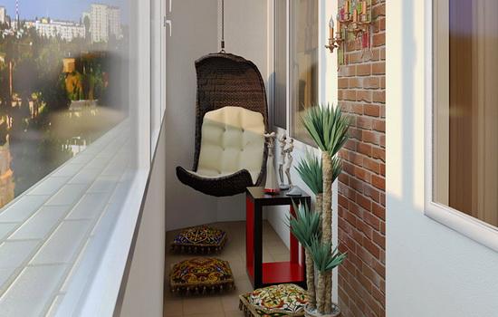 дизайн пространства балкона