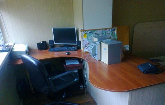 Кабинет на лоджии совмещенной с комнатой