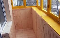 Как обшить вагонкой балкон своими руками