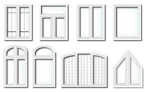 Различные формы окон