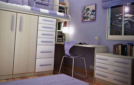 Комната для девочки-подростка в стиле минимализм