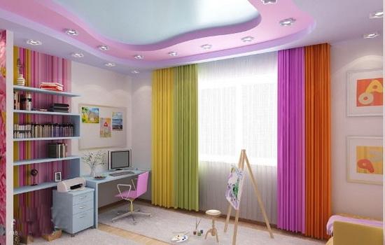 Красивые шторы в детской комнате девочки 7-11 лет