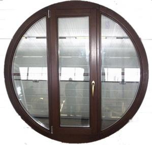 Круглые окна из древесины
