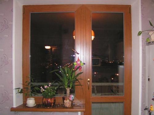 Ламинированные балконная дверь и окно