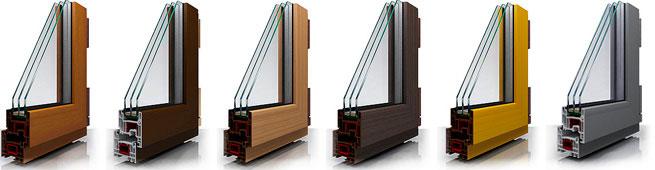 Профиль ПВХ окна с нанесенной ламинацией