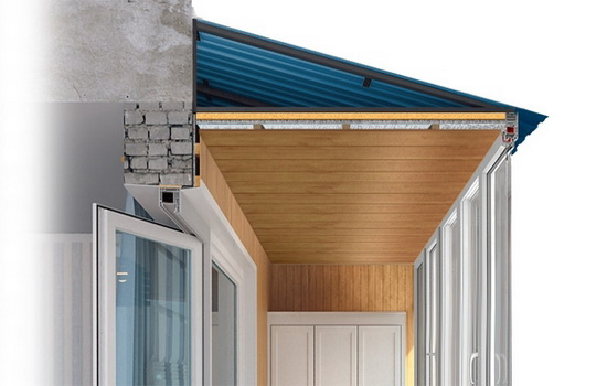 Материал для балконной крыши