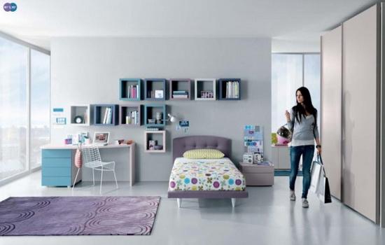 Минимализм в комнате для девочки-подростка