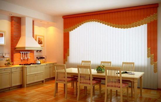 Мультифактурные цветные жалюзи на кухне