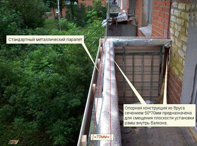 Правила остекления балкона