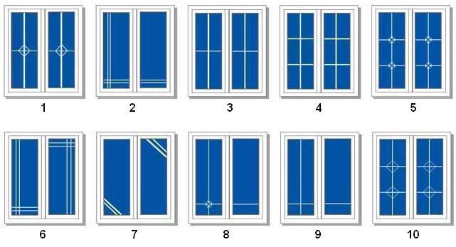 Наиболее популярные виды рисунков на стеклах