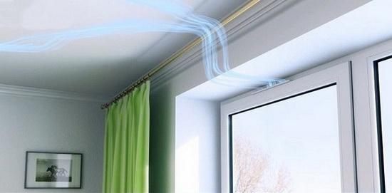 Недостаточная вентиляция помещения