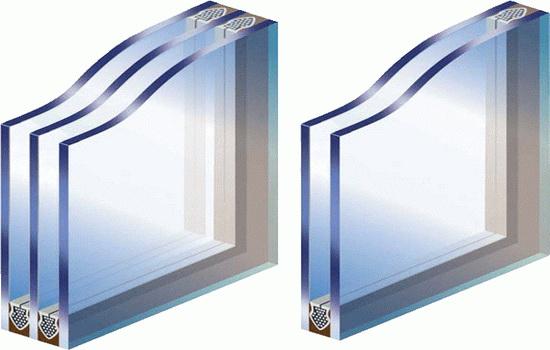 Одинарный и двойной стеклопакет