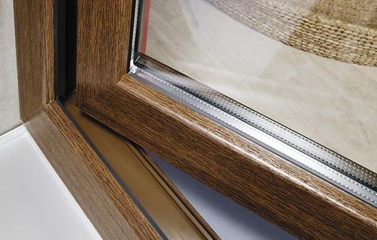 Окна с покрытием из ламината. Картинка