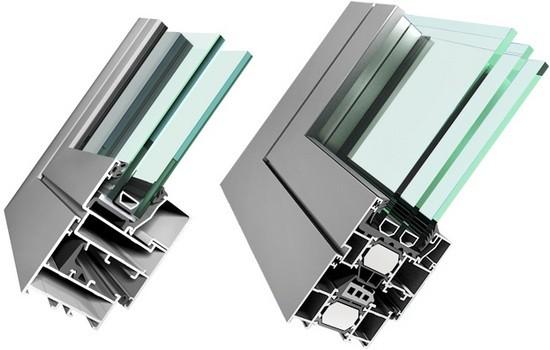 Отличие холодного алюминиевого окна от теплого