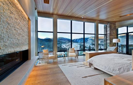 Панорамные окна частного дома
