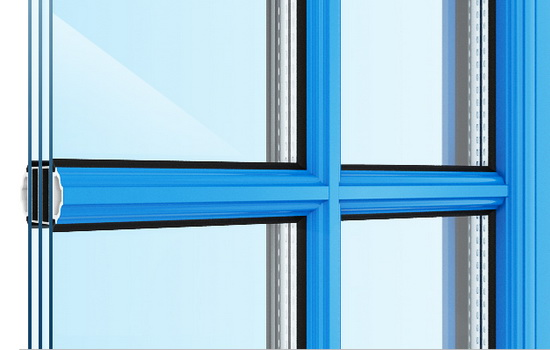 ПВХ окна с раскладкой