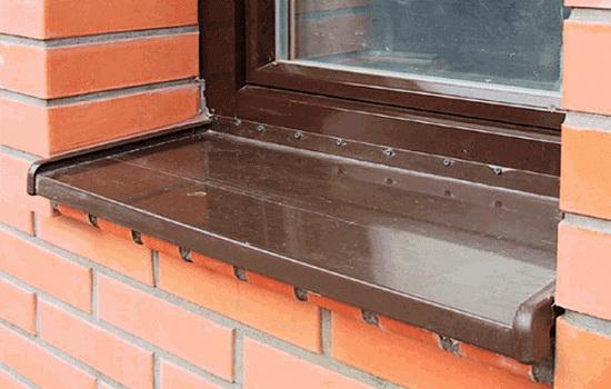 отливы из пластика на окна