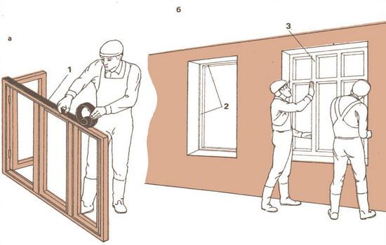 Подготовка проема для установки блока окна