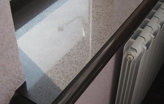 Фото подоконника из искусственного камня