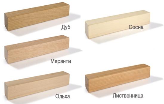 породы дерева для производства окон