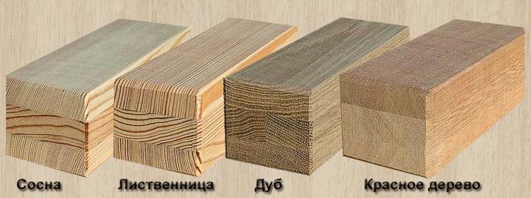 Породы дерева, используемые в евробрусе