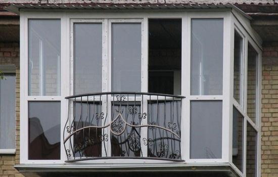 Пример такого французского балкона