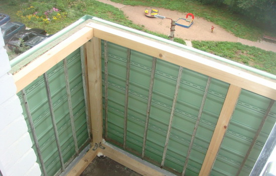 Работы, необходимые для реконструкции балкона