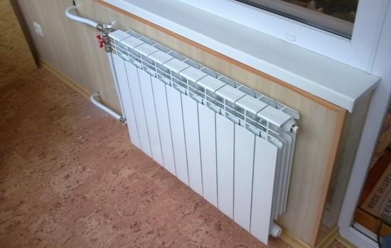 Батарея отопления на лоджии