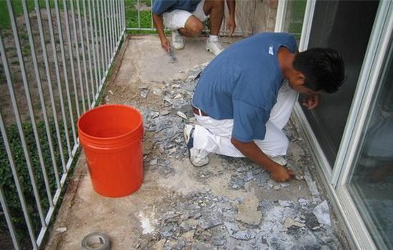 Реставрация плит балкона