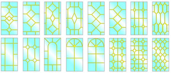 Витраж раскладок в ПВХ окнах