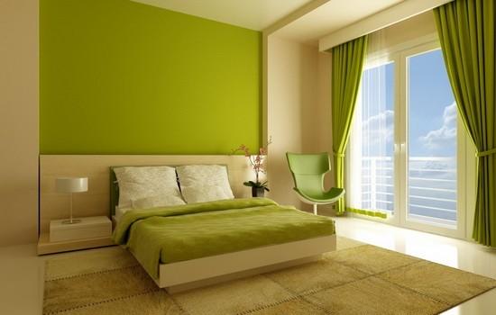 Сочетания в интерьере белого и зеленого цвета