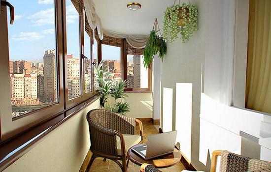 Организация комнаты на балконе