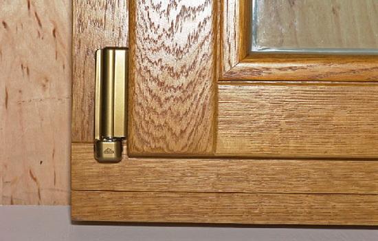 Элементы деревянного окна в разрезе