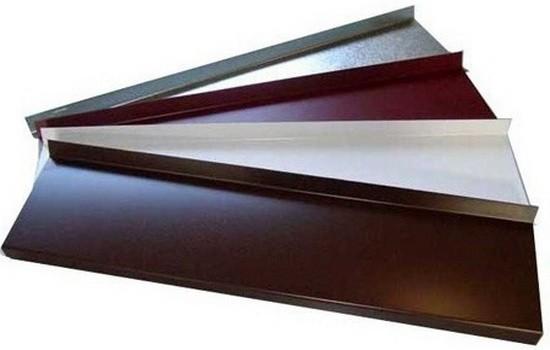 Существующие типы отливов для окон из древесины