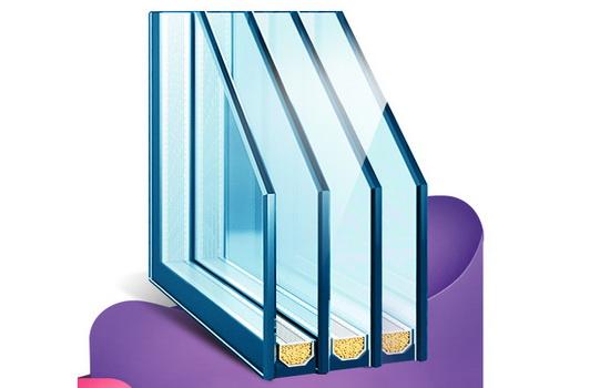 Пластиковые окна с трехкамерными стеклопакетами