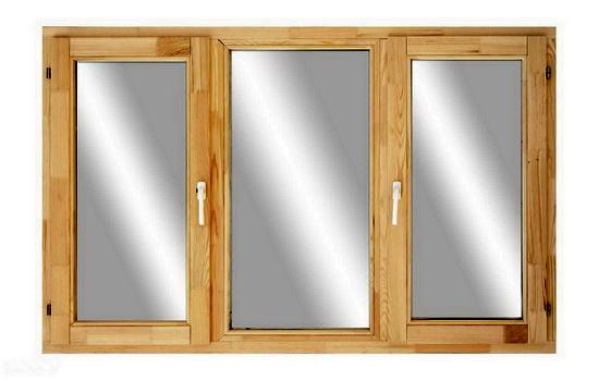 Трехстворчатые деревянные окна