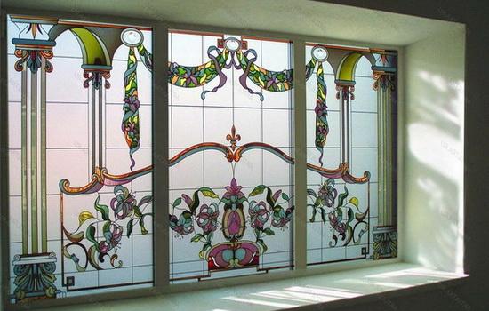 Украшение стекла рисунком