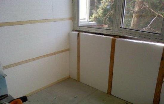 Утепление стен и потолка балкона
