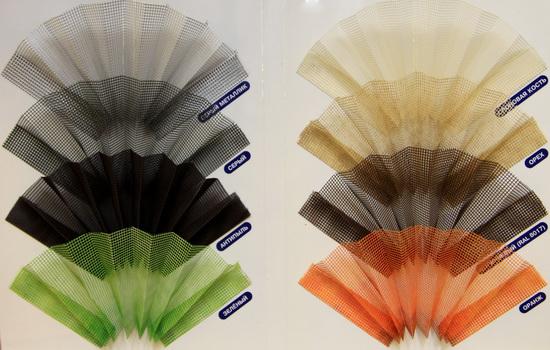 Цветовая гамма сеток плиссе